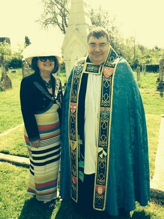 Dr Eileen Magnello and the Rev Chris Pettet